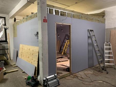 New Hire Frequencies studio under construction.